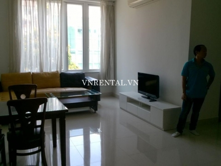 2 bedroom serviced apartment for rent on Nguyen Van Huong St, Dist 2, HCMC